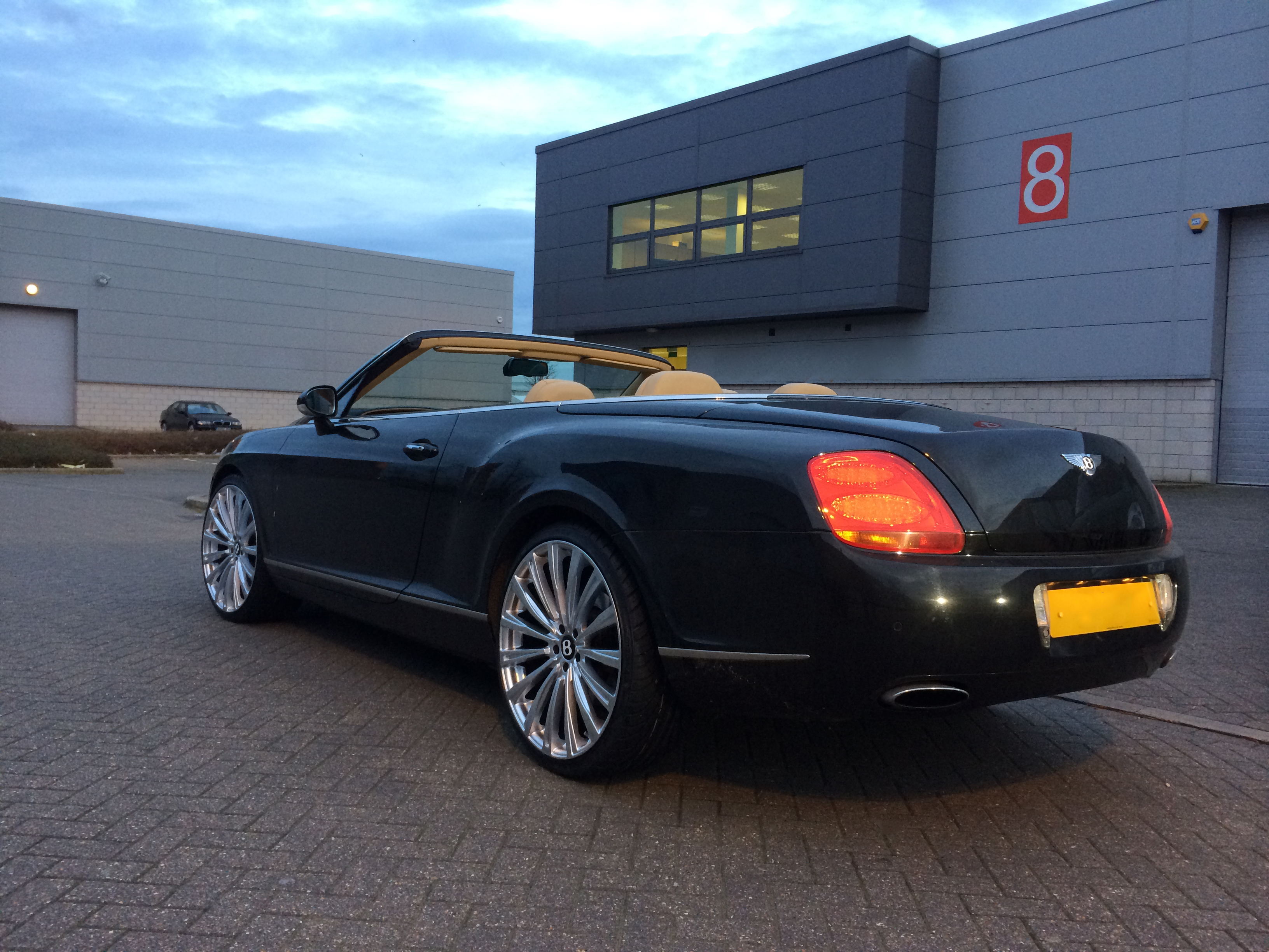 Black Bentley GTC on HAWKE Chayton wheels in Silver colour finish