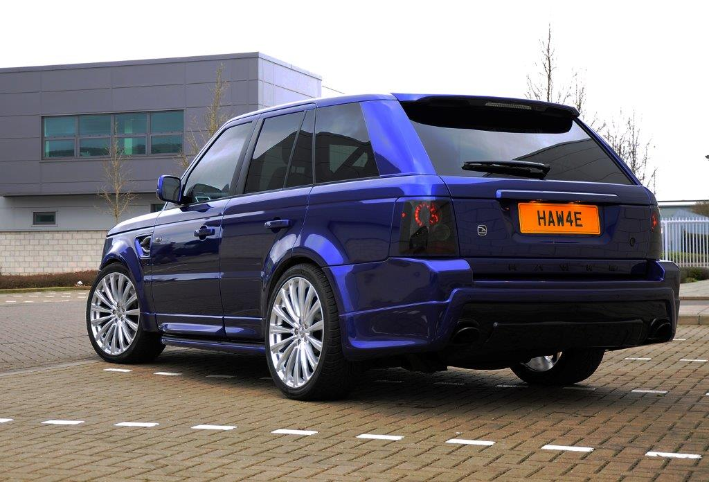Blue Range Rover Sport on HAWKE Chayton wheels in Silver colour finish