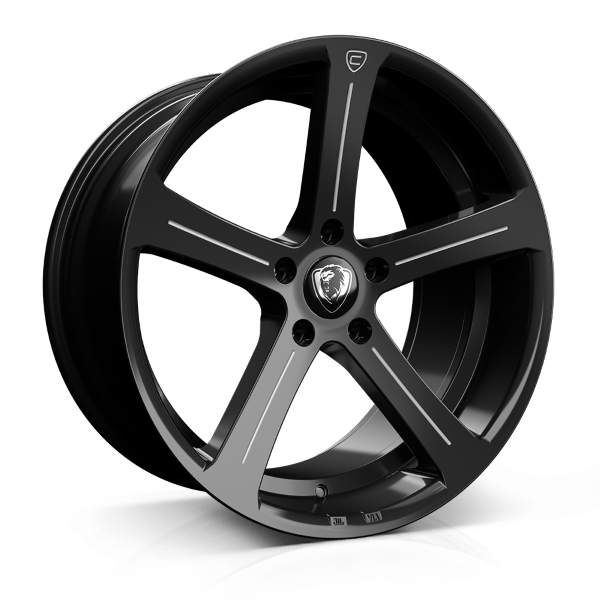 Cades Apollo 19 inch wheel finished in Black Accent; drilled to 5x120 stud pattern