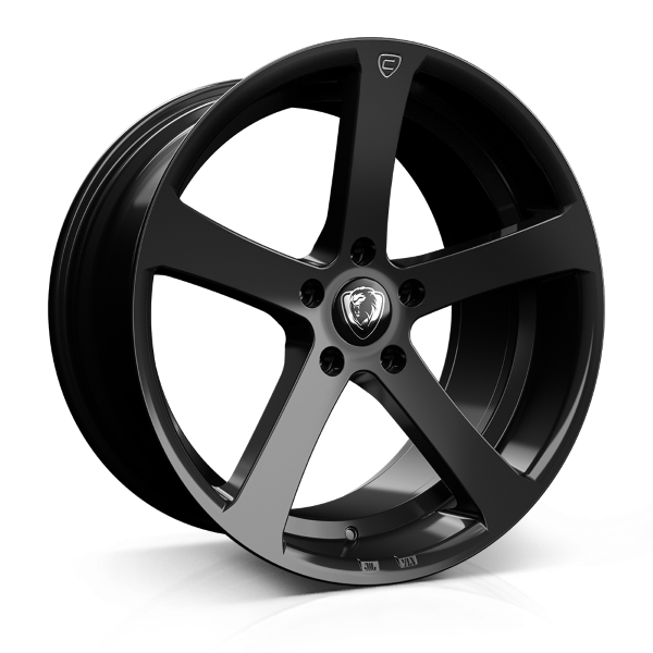 Cades Apollo 19 inch wheel finished in Black Crest; drilled to 5x120 stud pattern