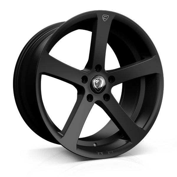 Cades Apollo 19 inch wheel finished in Matt Black Crest; drilled to 5x112 stud pattern