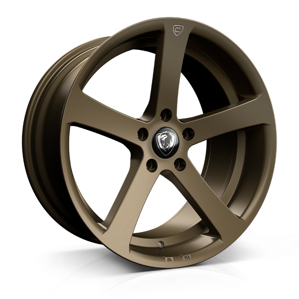 Cades Apollo 19 inch wheel finished in Matt Bronze Crest; drilled to 5x112 stud pattern