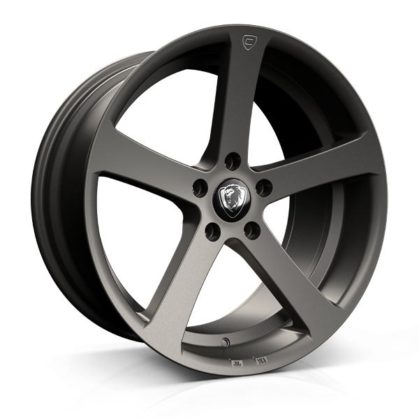 Cades Apollo 19 inch wheel finished in Matt Gunmetal Crest; drilled to 5x112 stud pattern