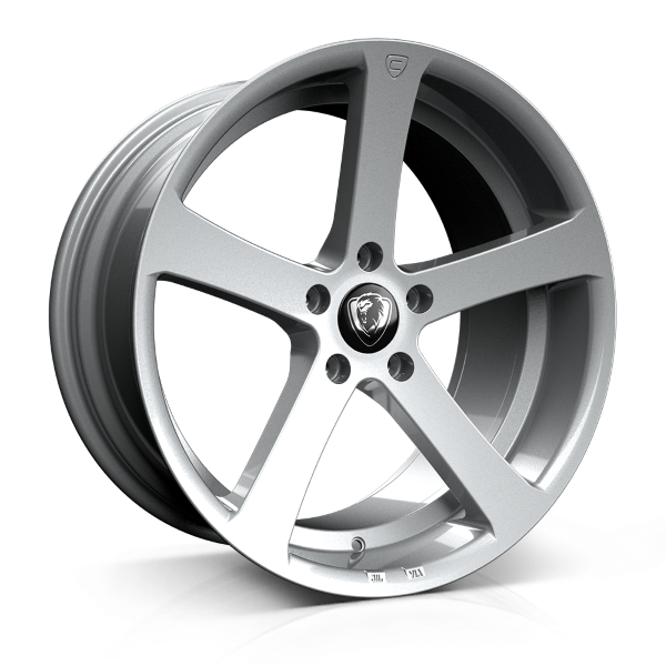 Cades Apollo 19 inch wheel finished in Silver Crest; drilled to 5x112 stud pattern