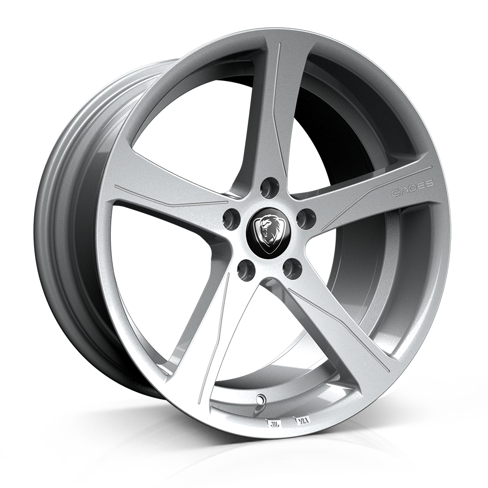 Cades Apollo 19 inch wheel finished in Silver RC Edition; drilled to 5x112 stud pattern