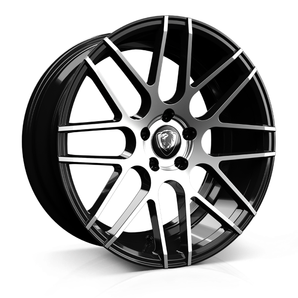 Cades Artemis 19 inch wheel finished in Black Polish; drilled to 5x112 stud pattern