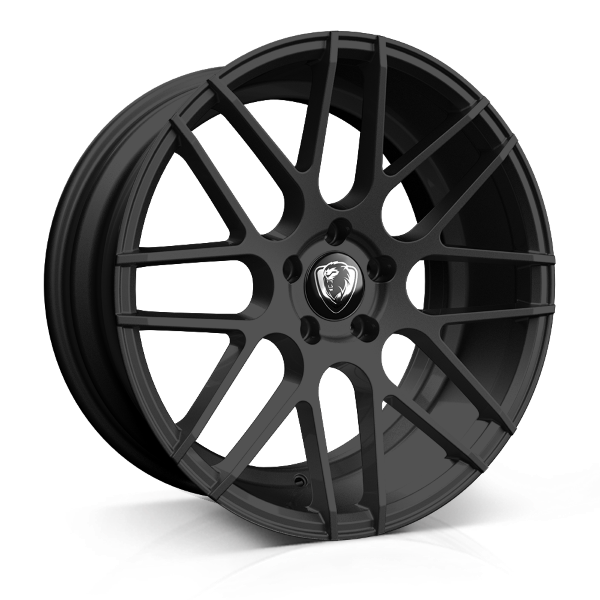 Cades Artemis 18 inch wheel finished in Matt Black; drilled to 5x120 stud pattern