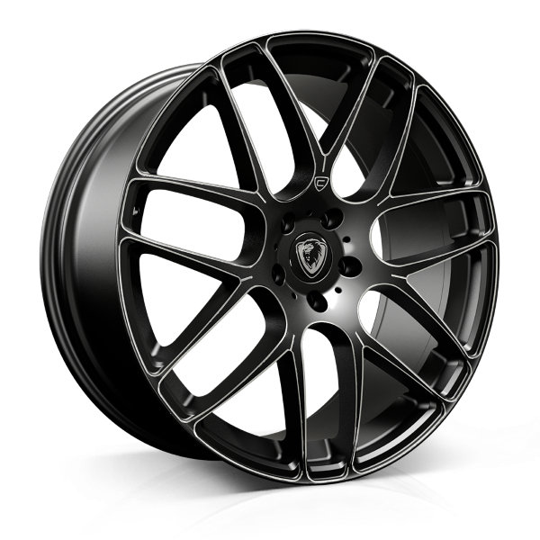 Cades Bern 22 inch wheel finished in Black Accent; drilled to 5x120 stud pattern