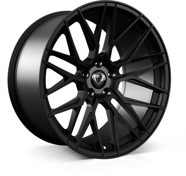 Cades Hera 20 inch wheel finished in Matt Black drilled to 5-120 stud pattern