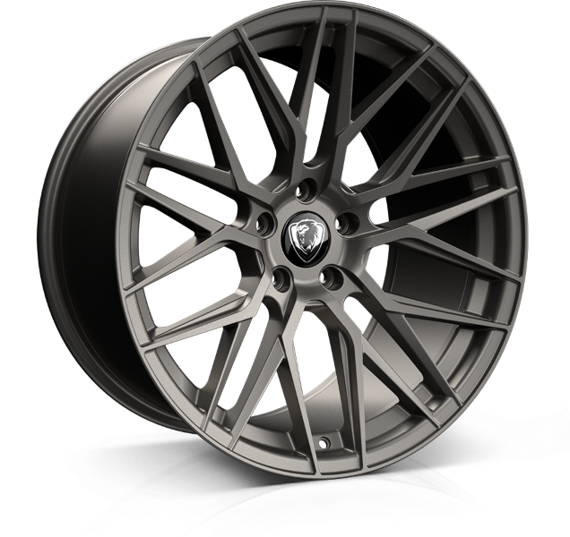 Cades Hera 20 inch wheel finished in Matt Gunmetal drilled to 5-120 stud pattern
