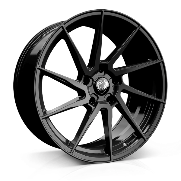 Cades Kratos 18 inch wheel finished in Black; drilled to 5x112 stud pattern
