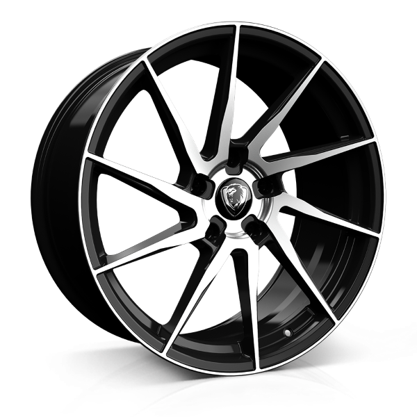 18x8.0 5-112 ET45 CADES KRATOS GLOSS BLACK POLISHED C73