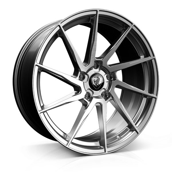 Cades Kratos 20 inch wheel finished in Brushed Silver; drilled to 5x120 stud pattern