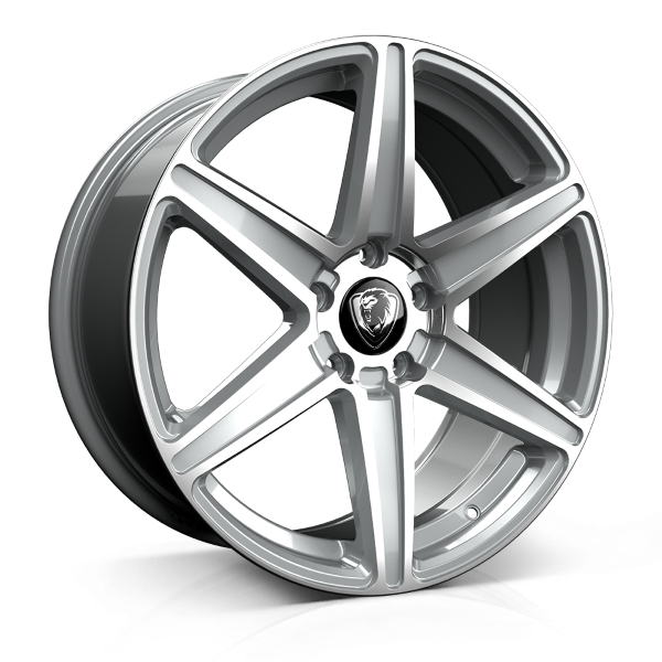 Cades Thor 19 inch wheel finished in Silver Polished; drilled to 5x120 stud pattern