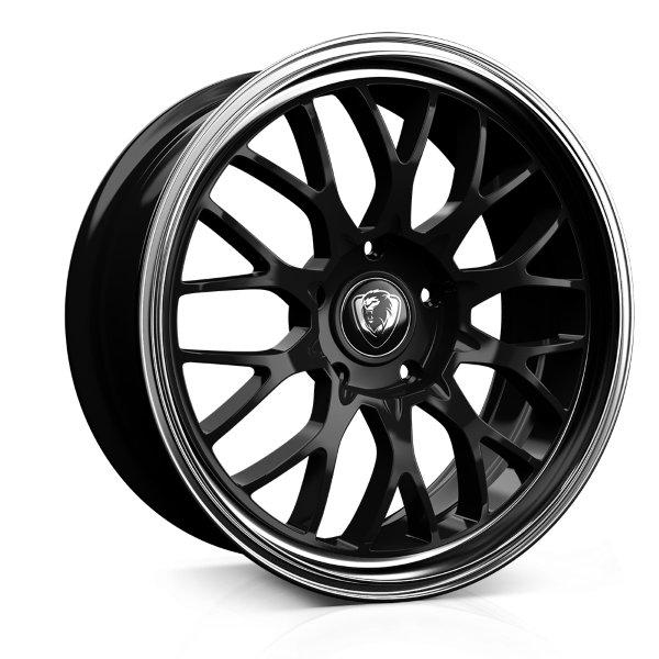 Cades Tyrus 19 inch wheel finished in Black Lip Polish; drilled to 5x100 stud pattern