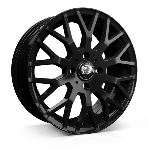 Cades Vienna 17 inch wheel finished in Black; drilled to 4x100 stud pattern