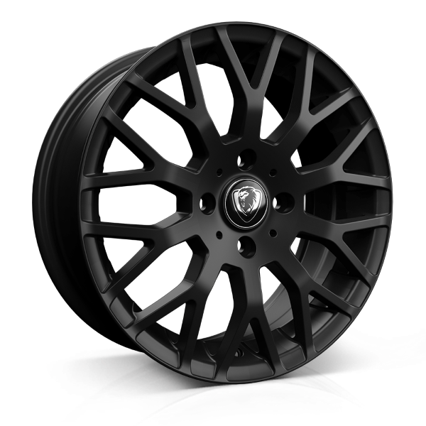 Cades Vienna 17 inch wheel finished in Matt Black; drilled to 4x100 stud pattern
