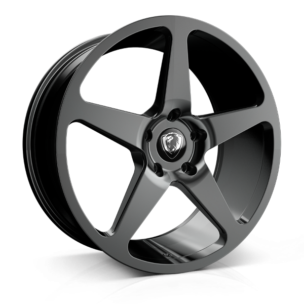 Cades Vulcan 20 inch wheel finished in Shadow Black; drilled to 5x112 stud pattern