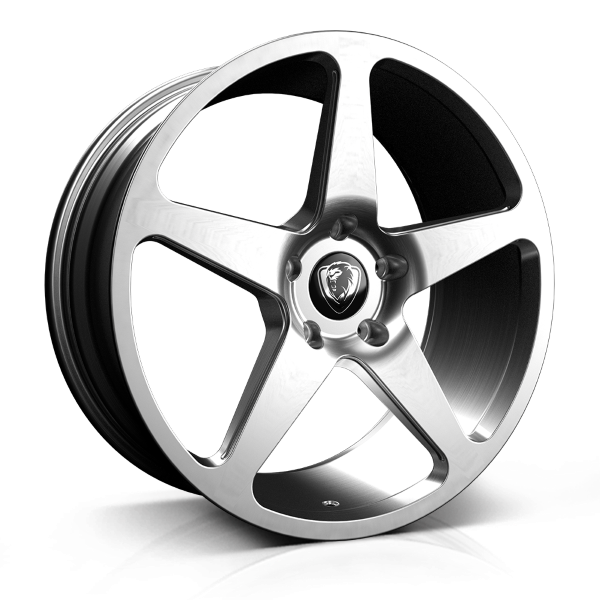Cades Vulcan 20 inch wheel finished in Brushed Silver; drilled to 5x120 stud pattern