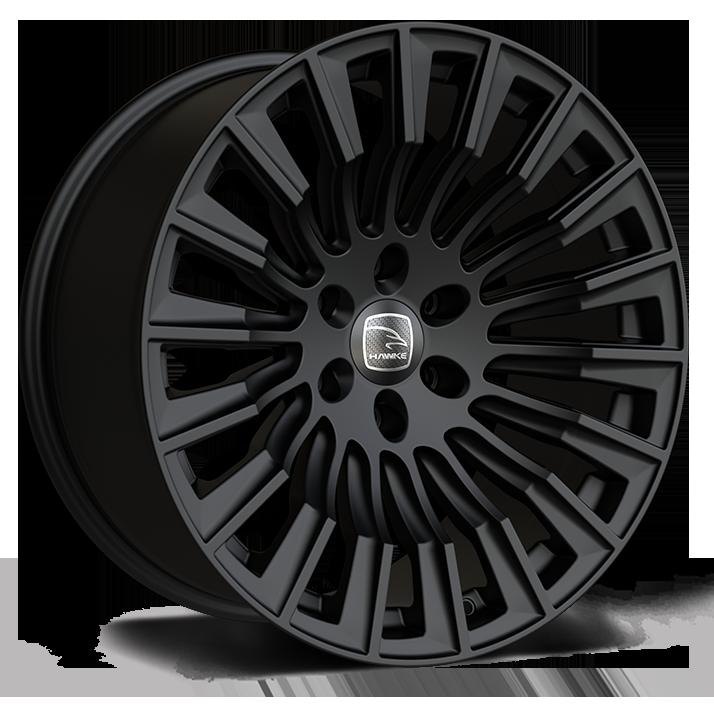 Hawke Ridge XC 20 inch wheel finished in Matt Black; drilled to 6-114 stud pattern