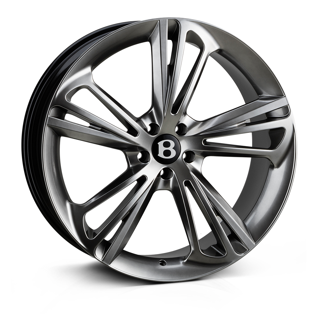 Hawke Aquila 22 inch wheel finished in Dark Silver; drilled to 5-112 stud pattern
