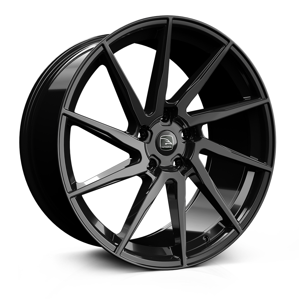 Hawke Arion 23 inch wheel finished in Jet Black; drilled to 5-120 stud pattern