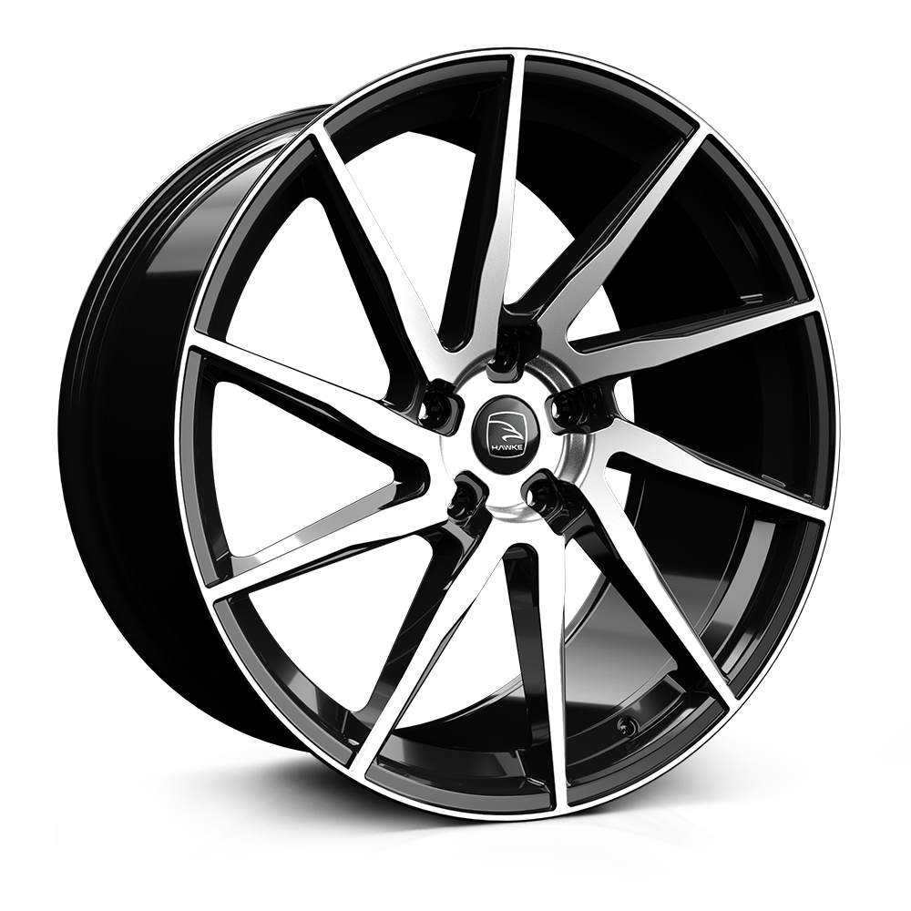 23x10.0 5-120 ET40 HAWKE ARION JET BLACK POLISH  C72
