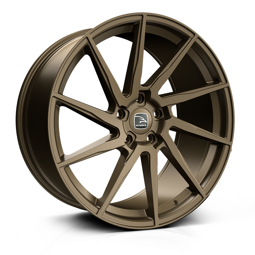 Hawke Arion 22 inch wheel finished in Matt Bronze; drilled to 5-120 stud pattern