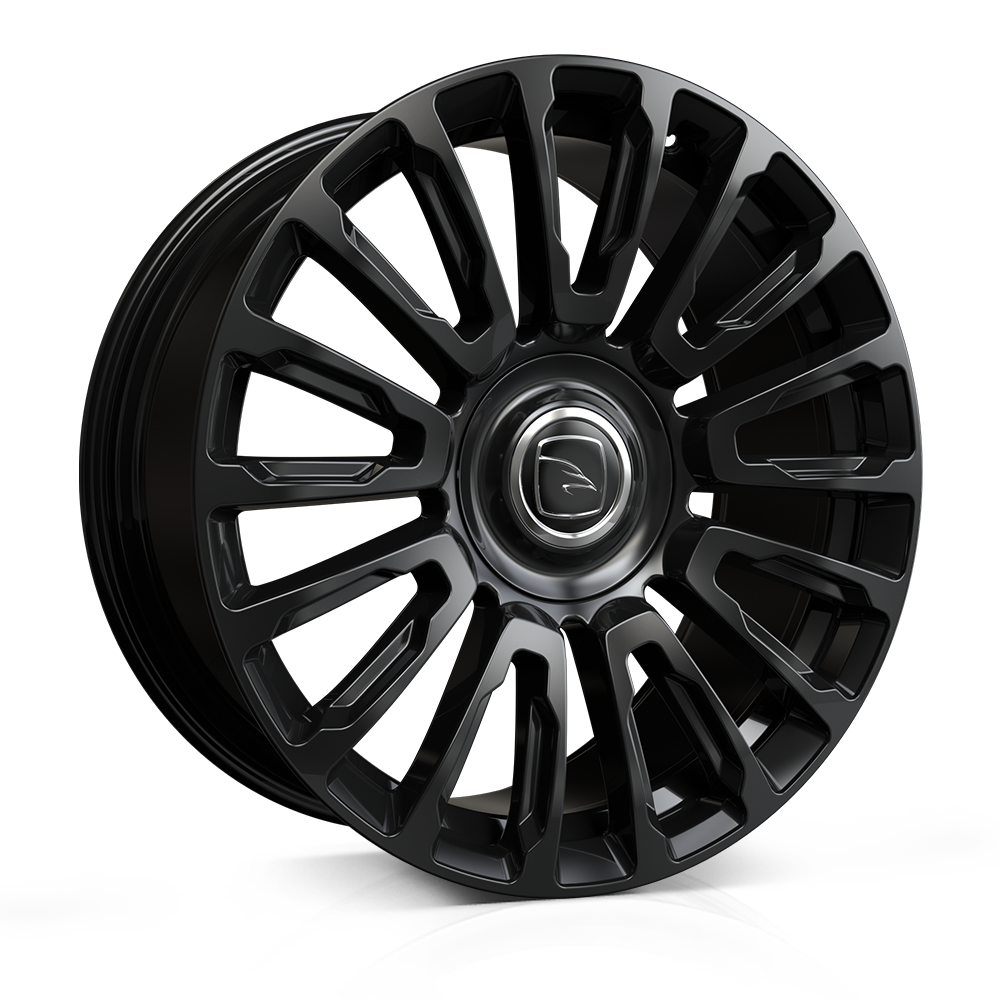 Hawke Dresden 22 inch wheel finished in Jet Black; drilled to 5-112 stud pattern for Bentley