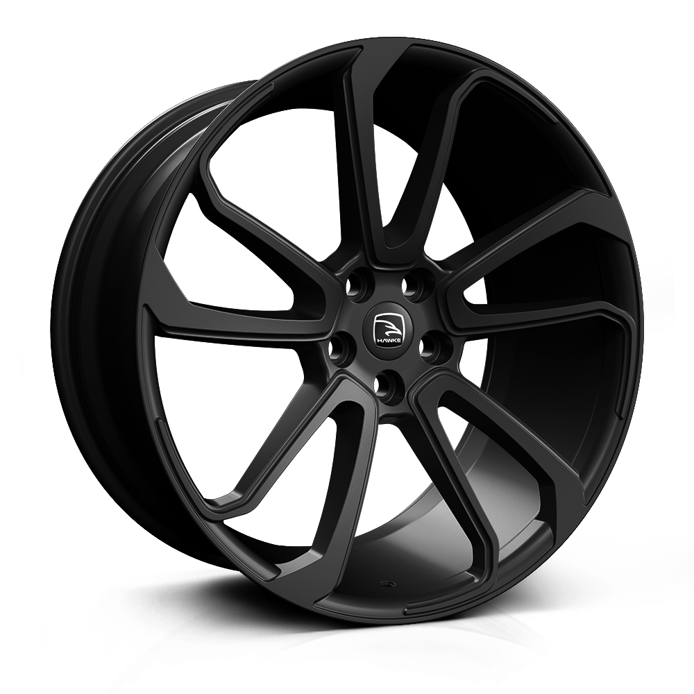Hawke Falkon 20 inch wheel finished in Matt Black; drilled to 5-120 stud pattern
