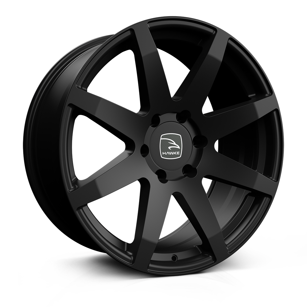 Hawke Knox XL 22 inch wheel finished in Matt Black; drilled to 6-139 stud pattern