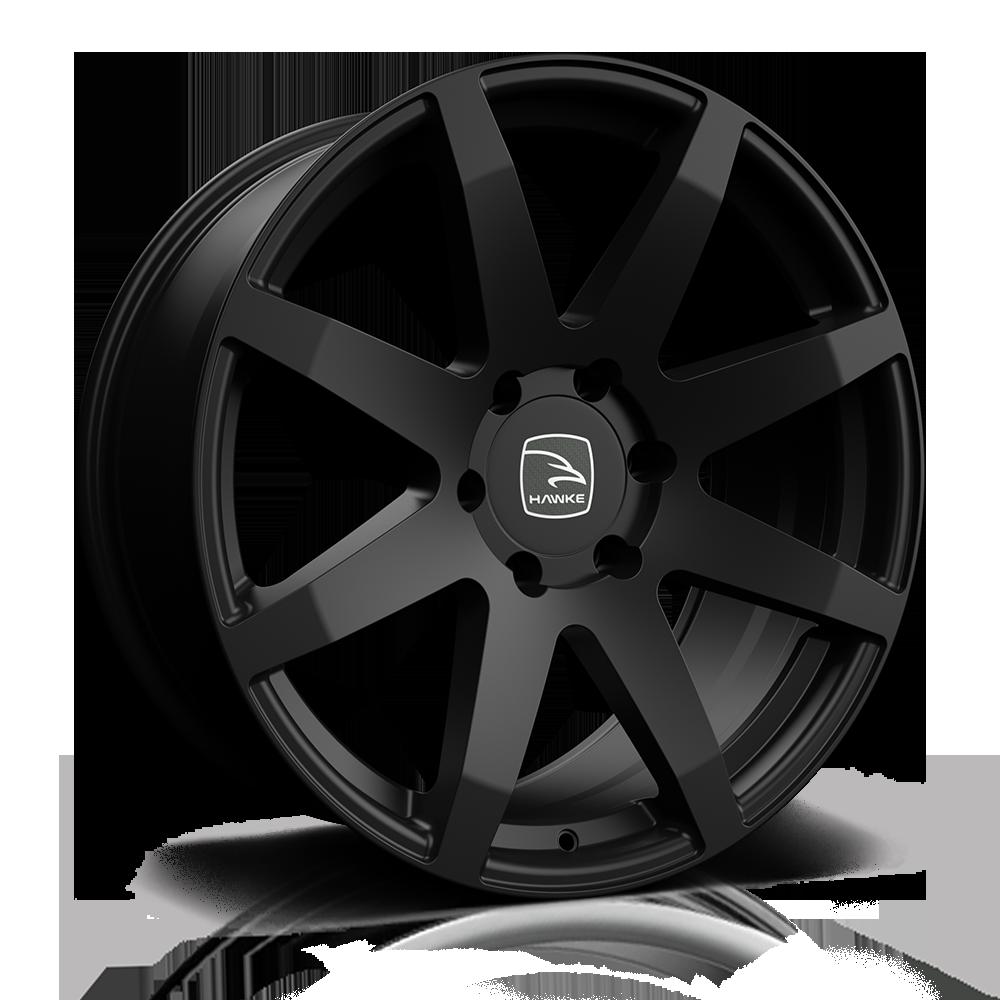 Hawke Knox XL 22 inch wheel finished in Matt Black; drilled to 6-139 stud pattern