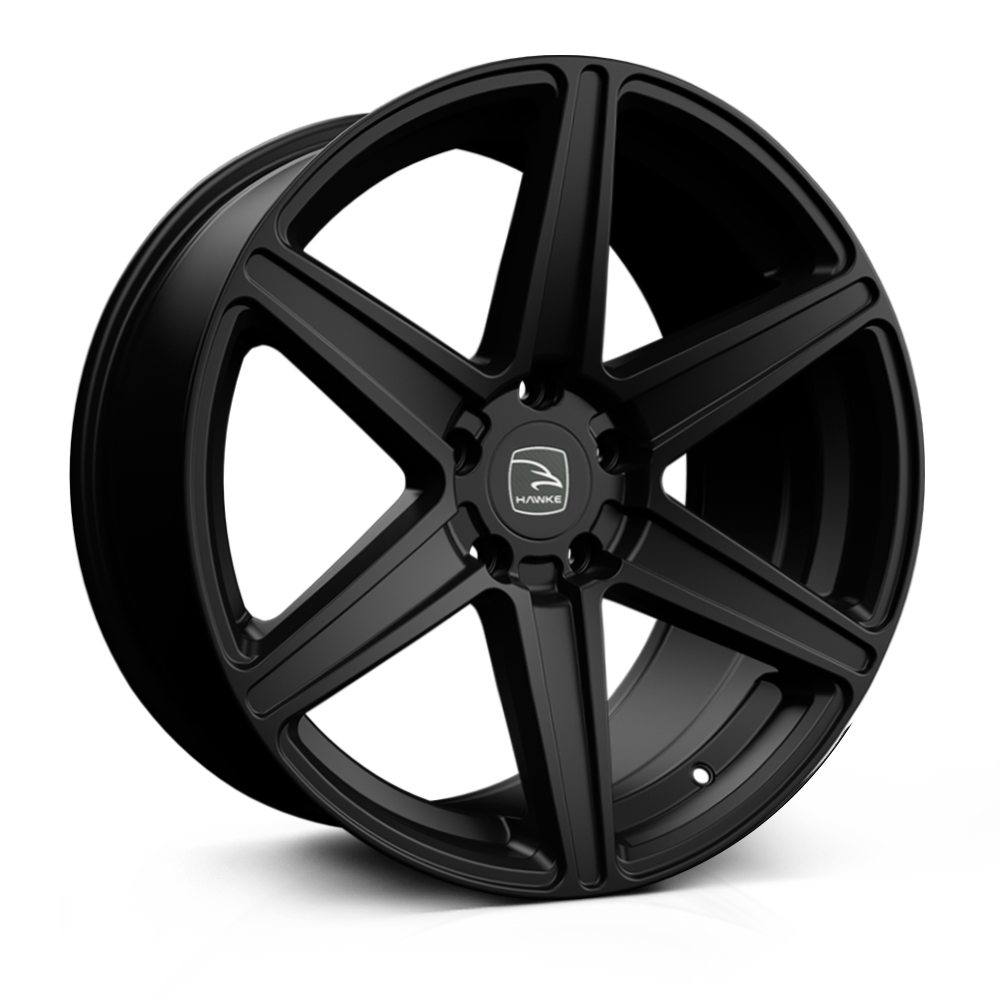 Hawke Ridge 20 inch wheel finished in Matt Black; drilled to 5-120 stud pattern