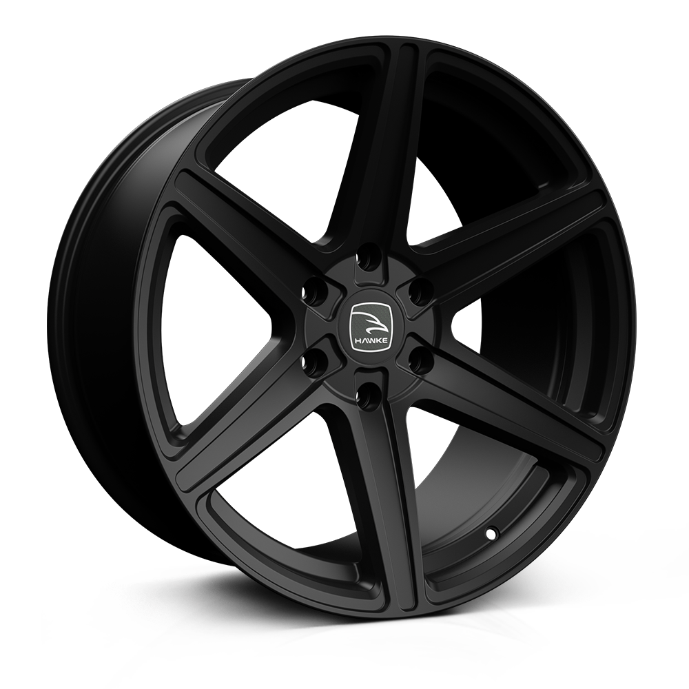 Hawke Ridge 20 inch wheel finished in Matt Black; drilled to 6-139 stud pattern