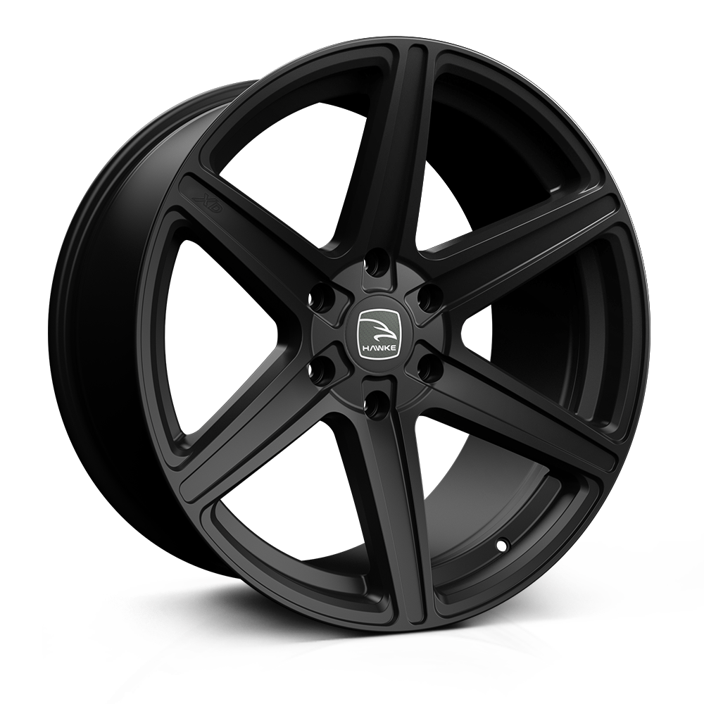 Hawke Ridge XC 20 inch wheel finished in Matt Black; drilled to 6-139 stud pattern
