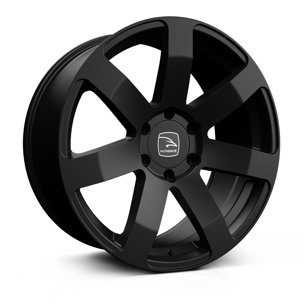 Hawke Summit 20 inch wheel finished in Matt Black; drilled to 6-139 stud pattern