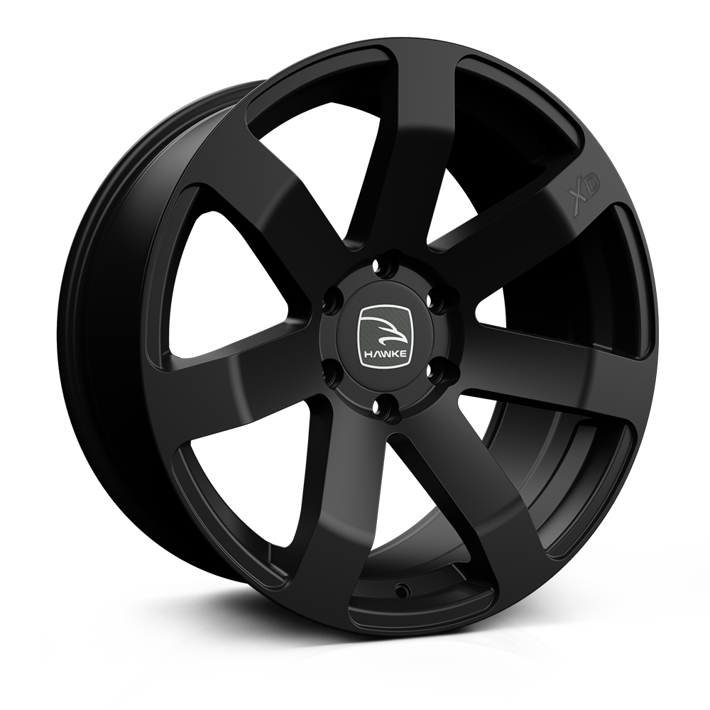 Hawke Summit XD 20 inch wheel finished in Matt Black; drilled to 6-139 stud pattern