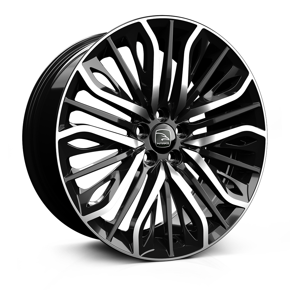 20x9.0 5-120 ET42 HAWKE VEGA JET BLACK POLISHED C72